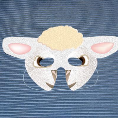 masque de mouton en papier