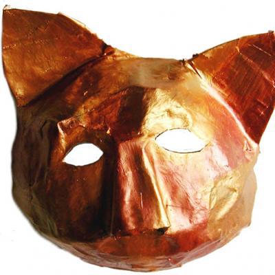 Masque de chat inspiré du carnaval de Venise