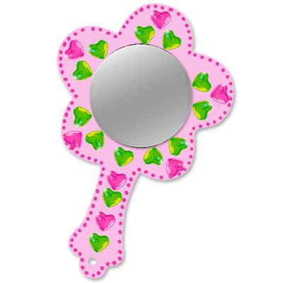 Miroir de princesse fleur décoré