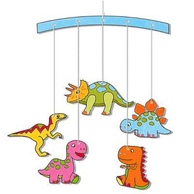 Mobile dinosaures à colorier
