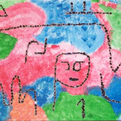Tableau mosaïque comme Paul Klee