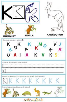 Cahier Maternelle Cahier Maternelle Des Lettres De L Alphabet