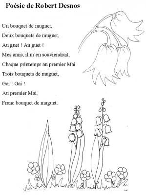 Coloriage Printemps Muguet.Poesie Sur Le Muguet Pour Le 1 Er Mai Chanson Enfant Tete A Modeler