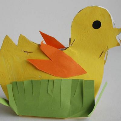 Fabriquer un panier en forme de poussin