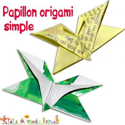 Papillon origami simple