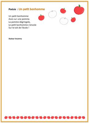 Poesie un petit bonhomme