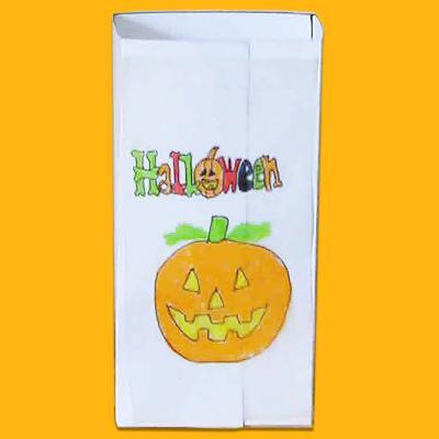 Fabriquer des sachets de bonbons d'Halloween