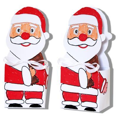 Pochette Père Noël à colorier