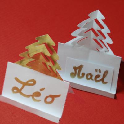Porte Nom Sapin En Papier Pour La Decoration De La Table Activite Kirigami Tete A Modeler