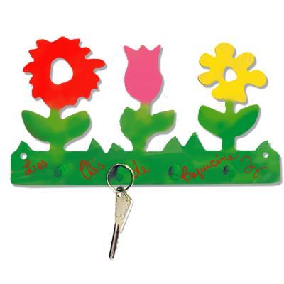 Porte-clés à grosses fleurs
