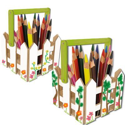 Pot à crayons champêtre