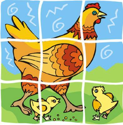 Réaliser un puzzle de poule pour les jeunes enfants