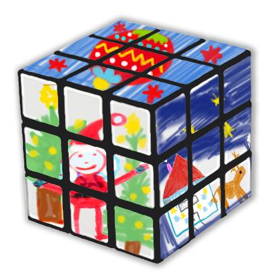 Jeux Pour Noel.Rubik Cube Pour Noël Jouet De Noël