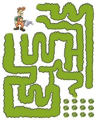labyrinthe des salades à imprimer pour les enfants