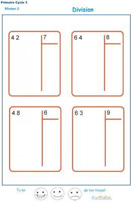 Technique De La Division Pour Enfants Du Cm1 Et Cm2 Fiche 5 Divisions Tete A Modeler