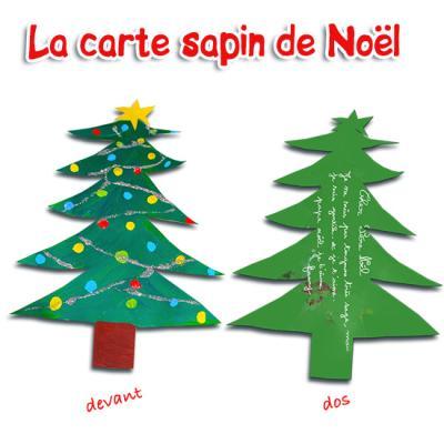 Carte de Noël sapin  Cartes de Noël sur Tête à modeler