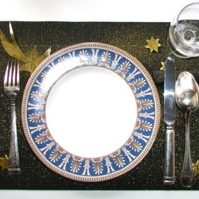 Fabriquer un set de table Noir et or