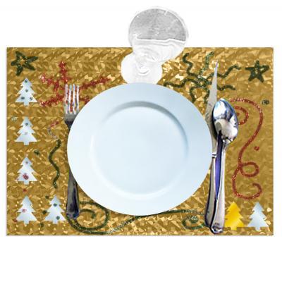 Set de table de fête métallisé