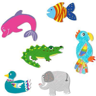 Silhouettes géantes d'animaux à décorer