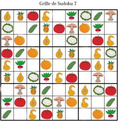 Sudoku pour la maternelle : grille 7