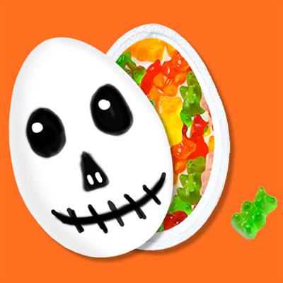 Boîte à bonbons tête de fantôme d'Halloween