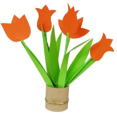 Tulipes en pot