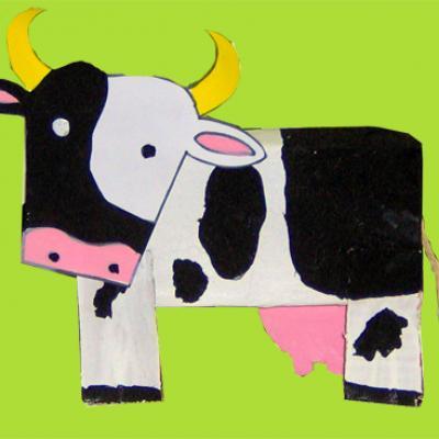 Modelage d'une vache