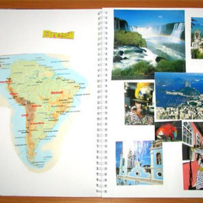 Faire et remplir un cahier de découverte des pays