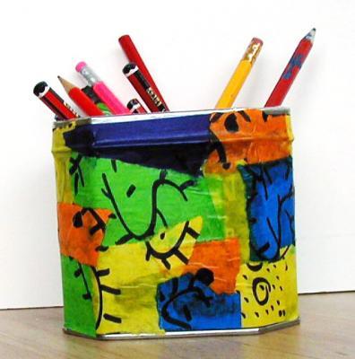 Bricolage pour faire une boite à crayons