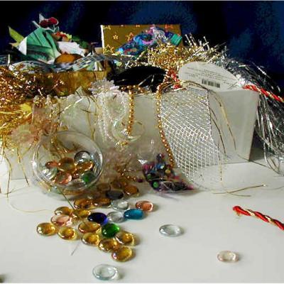 boîte à trésors enfant pour les bricolages d'enfant