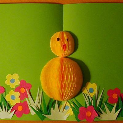 Fabriquer une carte en 3 D pour Pâques