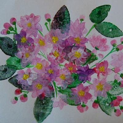 Peinture de fleur de cerisier du japon