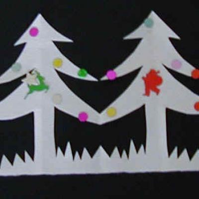 Guirlandes de Noel en forme de sapins