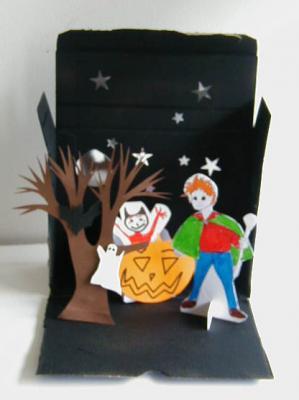 décors illustrant la légende d'halloween