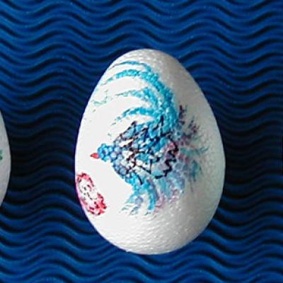 Oeufs de Pâques peints à la chinoise