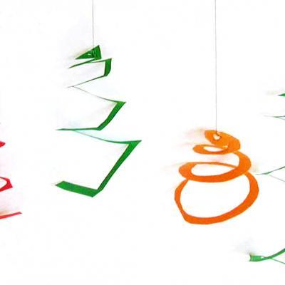 Fabriquer des petites décorations de Noel en papier