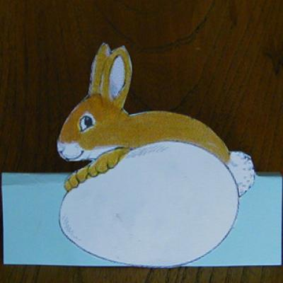 Marque place pour Pâque à découper et à colorier