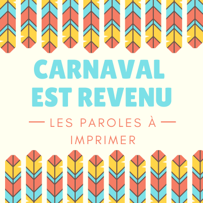 Imprimer la poésie Carnaval est revenu. Poeme à lire, à réciter à colorier