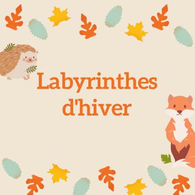 Des jeux de labyrinthe à imprimer sur le thème de l'automne, pour occuper les enfants pendant les vacances d'automnes et pour s'amuser. Le jeu est simple , il suffit de tracer le chemin d'un point à un autre selon la consigne donnée .