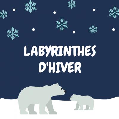 Des jeux de labyrinthe à imprimer sur le thème de l'hiver, pour occuper les enfants pendant les vacances d'hivers et pour s'amuser. Le jeu est simple , il suffit de tracer le chemin d'un point à un autre selon la consigne donnée .