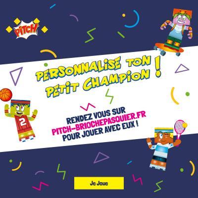 Rendez-vous sur www.pitch-briochepasquier.fr pour créer ton paper toy personnalisé, imprimer tes coloriages et défier le memory.