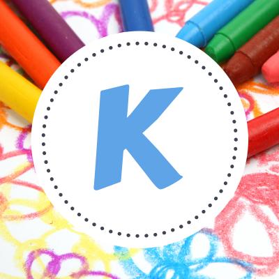 Coloriage prénoms commençant par K