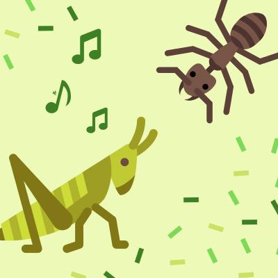 La cigale et la fourmi est une fable de Jean de la Fontaine. Elle raconte l'histoire d'une jeune cigale qui passe l'été à chanter alors que la fourmi travaille dure...