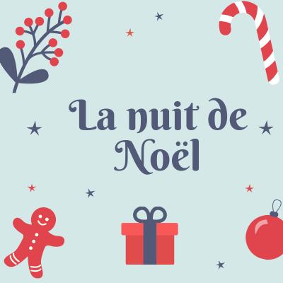 Poésie La nuit de Noël pour réciter avec les enfants. Texte de la poésie version à colorier.