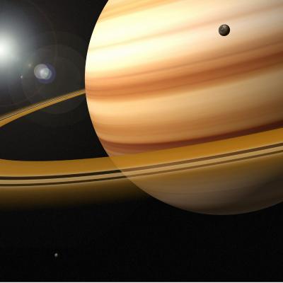 Saturne est presque aussi grande que Jupiter, mais elle n'est que la seconde planËte par la taille.