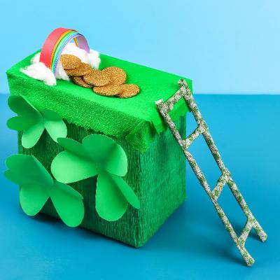 Fabriquez une tirelire de Saint patrick avec les enfants pour mettre à l'honneur cette célèbre fête irlandaise.