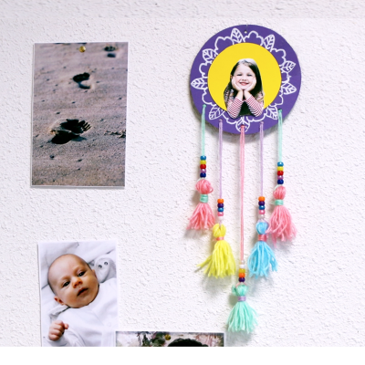 activité de bricolage enfants pour réaliser un attrape-rêve