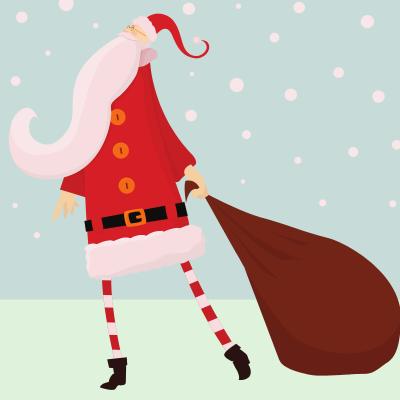 Avant de s'appeler Père Noël le mystérieux personnage s'est aussi appelé le bonhomme Noël. Il distribuait des friandises et des petits cadeaux aux enfants sages le soir de Noël. Le bonhomme No&am
