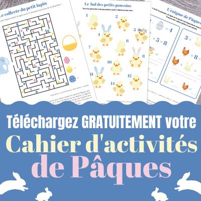 Un cahier d'activités de Pâques avec des jeux, des infos et des activités créatives pour apprendre en s'amusant sur le thème de la fête de Pâques