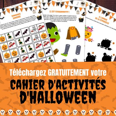 Un cahier d'activités d'Halloween avec des jeux, des infos et des activités créatives pour apprendre en s'amusant sur le thème de l'automne copie